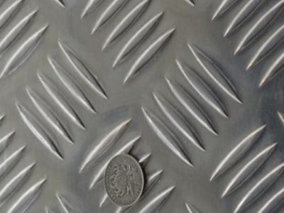 供应花纹铝板 1.5*1220*2440五条筋型花纹铝板 纯铝花纹板君实供