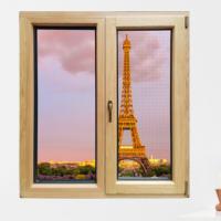 华建100系列铝包木门窗封阳台北京铝木复合门窗隔音隔热节能平开
