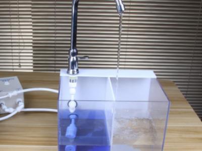 净水器示范演示水槽插电充电款水泵地推演示高透明亚克力连体双箱