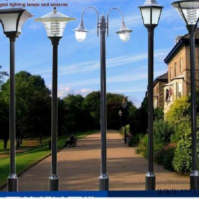 草坪景观高杆路灯头小区别墅欧式铝型材中式现代户外太阳能庭院灯