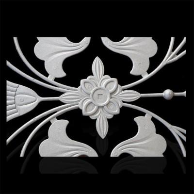 厂家供应锌钢护栏配件铝铸花别名百合花