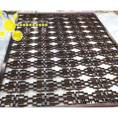 订做电镀钛金会所不锈钢隔断 江苏江阴大堂不锈钢隔断