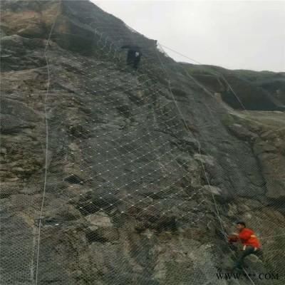 电镀锌钛克网  主动式边坡防护 继乾 供应现货  边坡主动拦石网