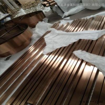 201电镀不锈钢管 304不锈钢彩色管钛金 玫瑰金 香槟金 黑钛 真空镀