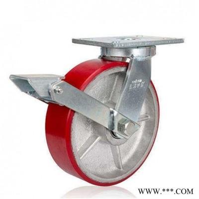 原厂 美国科顺 抗冲击性 7-8679-985重载脚轮 脚轮生产厂家 活动脚轮、渗碳热处理 符合环保电镀 方便选配方向锁
