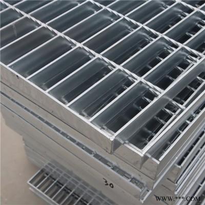 镀锌沟盖板平台楼梯走道板钢格栅板电镀钢格栅盖板定制踏步钢格板排水沟盖板
