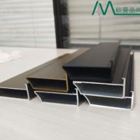 全铝家具铝型材衣柜玻璃门豪华大框58框橱柜52半隐框大边门框铝材