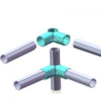 多规格铝合金精益管接口内接头 塑胶线棒接头免打孔接口批发