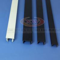 平封槽条 铝型材槽口封条 硬胶条槽6/8/10 黑色灰白色胶条配件