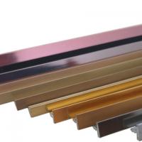 铝型材T型条封边条6/8/10mm地脚板加厚铝型条防潮耐用踢脚线