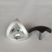 铝型材配件 三维连接件40R弧型三维角连接 半圆形铝材连接