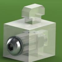 工业铝型材板夹块40系列工业铝型材连接件垫块间隔连接块塑胶块