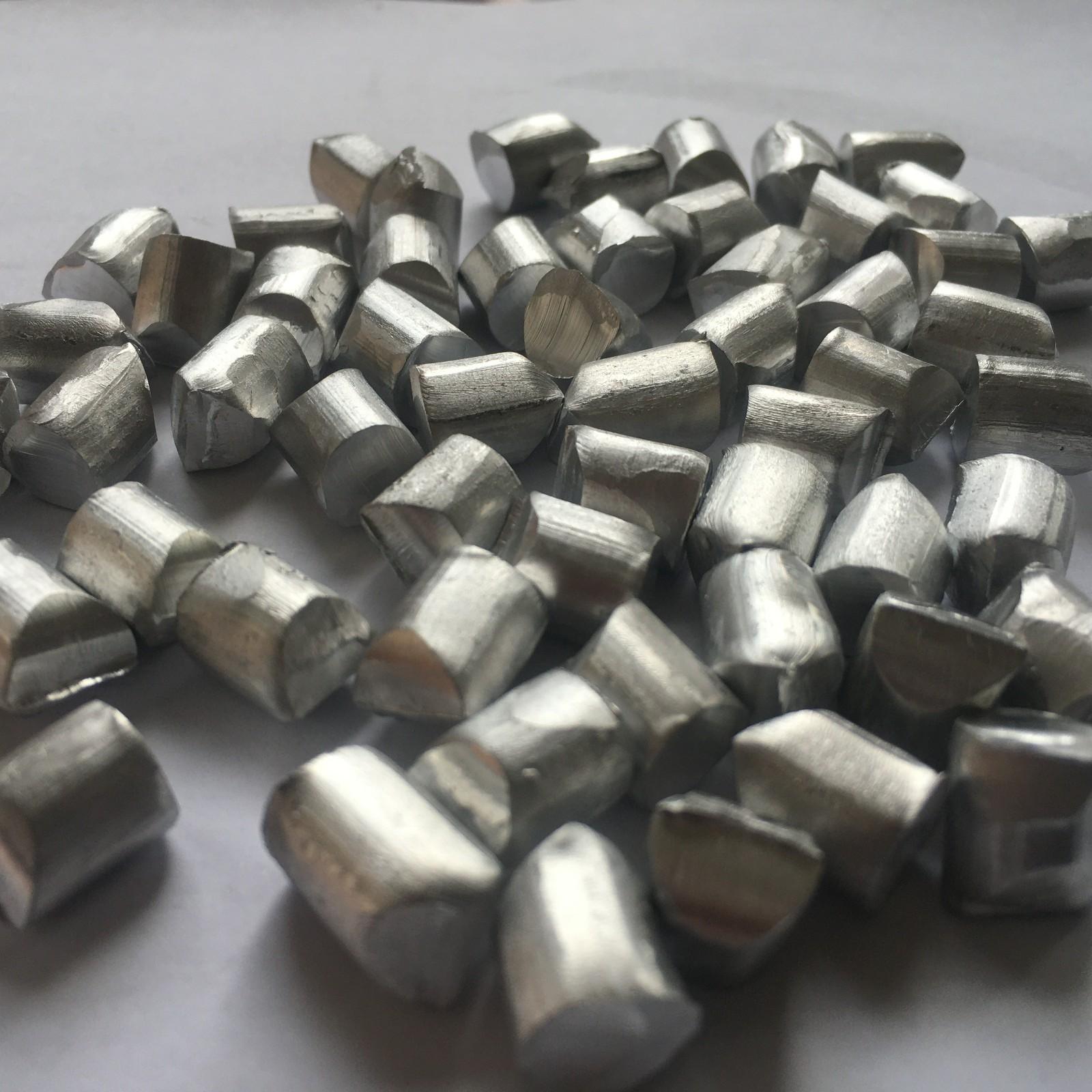 厂家长期生产 材质1060粒度5*5毫米铝颗粒 铝线段 铝杆段