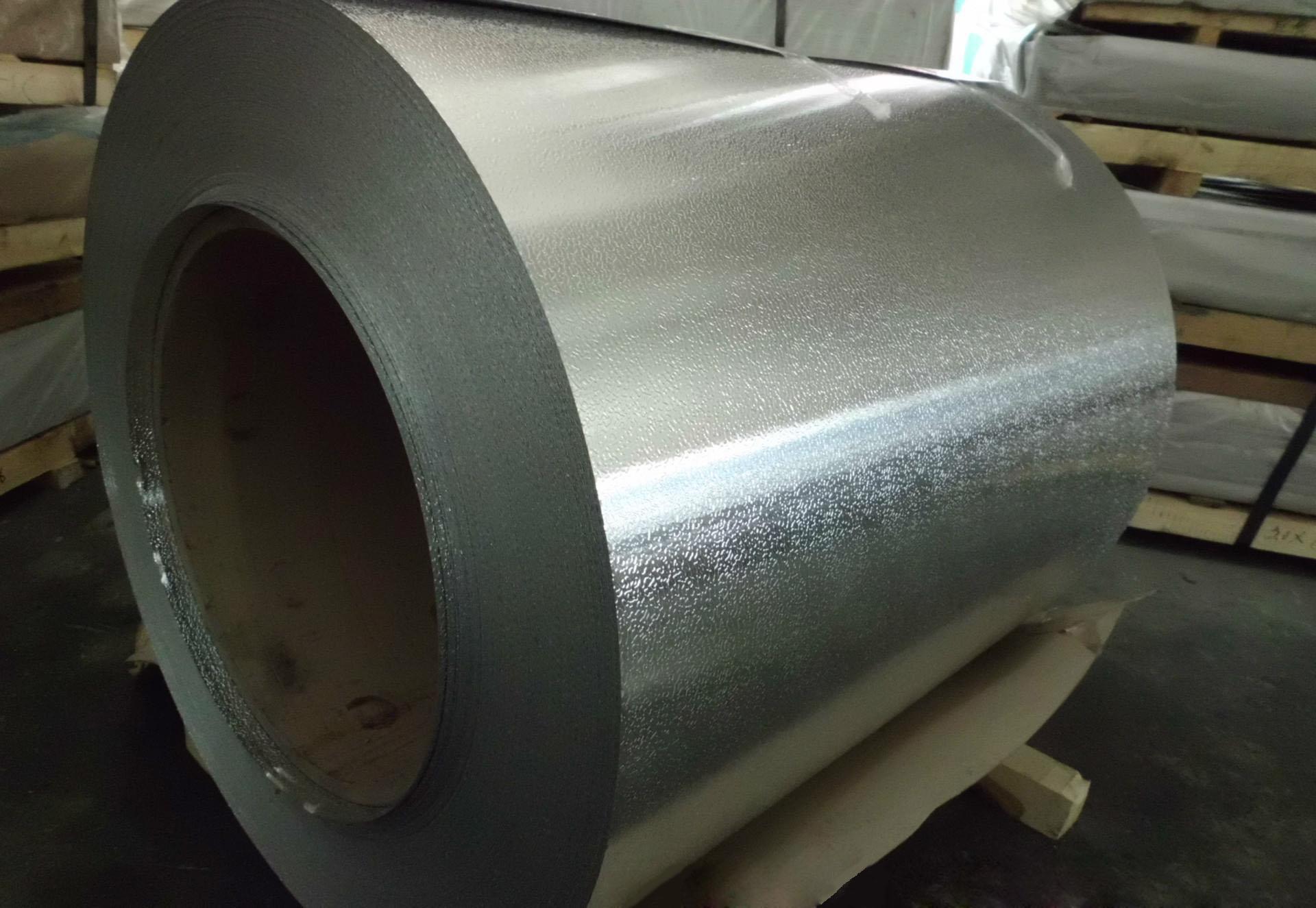 厚度0.5mm的桔皮花纹铝板   冰箱铝板厂家