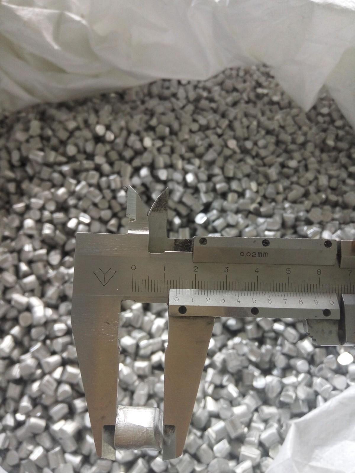 厂家长期生产 材质1060粒度5*5毫米铝颗粒 铝线段