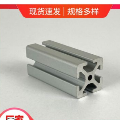 工业铝型材 开模定制厂家直供 银白喷砂氧化精切2020流水线型材